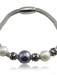 Fashion Net Wire Pearl Charms Stainless Steel Bracelets
