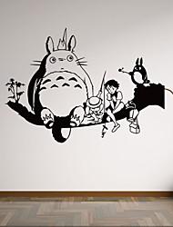 economico -Animali / Botanical / Cartoni animati / Natura morta / Forma / Persone / Fantasia Adesivi murali Adesivi aereo da parete,vinyl 58*42cm
