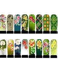 Χαμηλού Κόστους Αυτοκόλλητα για Όλο το Νύχι-20pcs - 18cmX4.5cm each piece - Λουλούδι - 3D Αυτοκόλλητα Νυχιών - από PVC - για Δάχτυλο