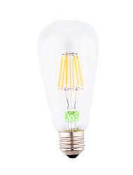 cheap -YWXLIGHT® 1pc 500-600 lm E26/E27 LED Filament Bulbs ST64 6 leds COB Decorative Warm White AC 110-130V AC 220-240V AC 85-265V