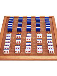 Недорогие -Морская пехота двигаться крупные морские военные шахматы акриловые материалы из массива дерева Пакет края плиты 3.7 черное золото + доска