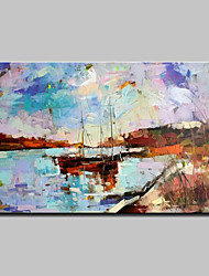 cheap -Large Hand Painted Modern Abstract Landscape Oil Painting On Canvas Wall Art With Stretched Frame Ready To Hang