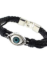 cheap -Men's / Women's Cuff Bracelet - Leather Unique Design, Fashion Bracelet Black For Wedding / Party / Daily