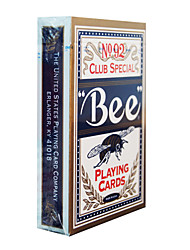 Недорогие -пчела игральных карт 92 пчелы бренда флуоресцентные анти-подделывая голубые карточки (1 пара)