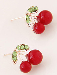 cheap -Stud Earrings Fashion White Red Green Jewelry Party Daily Casual 1 pair