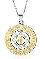 Недорогие -Муж. Ожерелья с подвесками Кулоны Титановая сталь Ожерелья с подвесками Кулоны , Повседневные