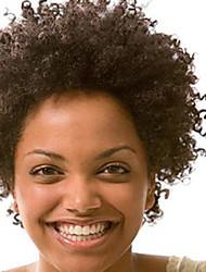 Недорогие -мода 10-28inch странный афро фигурных естественный цвет 100% бразильские человеческие волосы парика фронта шнурка парики