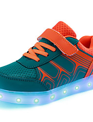 Kids Boys' Sneakers Fall Winter Light Up Shoes First Walkers Luminous Shoe Tulle Outdoor Athletic Casual Low Heel LED