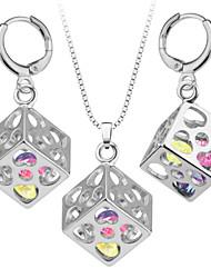 Unique Cube Pendant Trendy Platinum/18K Gold Plated Unisex Jewelry New Resizable Chain Pendant Necklace S20099