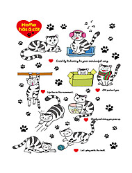 cheap -Wall Stickers Wall Decals Style Lovely Little Cat PVC Wall Stickers