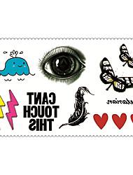 Mode temporäre Tattoos Karikaturen sexy Body-Art wasserdicht Tattoo-Aufkleber 5pcs (Größe: 2,36 '' von 4,13 '')