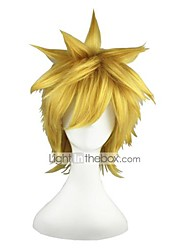 billiga -Syntetiska peruker Rak Blond Syntetiskt hår Blond Peruk 13 cm Utan lock Blond
