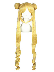 Pelucas de Cosplay Sailor Moon Sailor Moon Dorado Largo Animé Pelucas de Cosplay 100 CM Fibra resistente al calor Hombre / Mujer