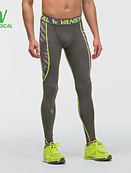 cheap -Men's Quick Dry, Lightweight Materials, Compression Leggings / Pants / Trousers / Bottoms Running Black / Gray M / L / XL