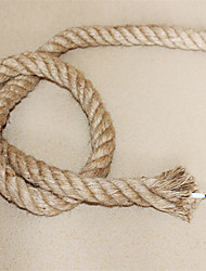 (10m/lot)2*0.75 antique double braided hemp rope electrical wire Vintage pendant light cord knitted lights accessories