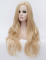 cheap -Women Synthetic Wig Long Wavy Blonde Halloween Wig Carnival Wig Costume Wig