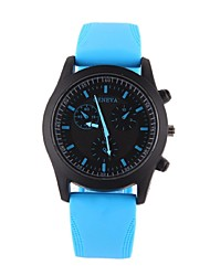 cheap -Couple's Quartz Wrist Watch Casual Watch Silicone Band Charm Casual Fashion Black White Blue Orange Yellow Rose