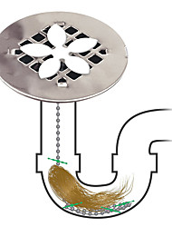 cheap -Shower Drain Hair Catcher (2 in a Pack) Never Clean a Clogged Drain Again!