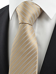 cheap -Men's Party Work Basic Rayon Polyester Necktie - Striped