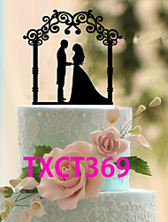 cheap -Cake Topper Classic Theme Classic Couple Acrylic Wedding with 1 OPP