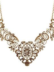 abordables -Femme Fleur Pendentif de collier  -  Décontracté Mode Bronze antique Colliers Tendance Pour Fête scolaire Bar