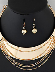 Women's Jewelry Set Hoop Earrings Necklace/Earrings Tassel Party Work Casual Fashion Statement Jewelry Punk European Party Daily Casual
