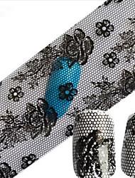 1pcs 100cmx4cm Glitter Nail Foil Sticker Sexy Lace Skull Flower Nail Decorations DIY Beauty STZXK11-15