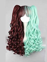 Parrucche lolita Punk Colore Graduale e Sfumato Parrucche Lolita 70 CM Parrucche Cosplay Collage Parrucche Per