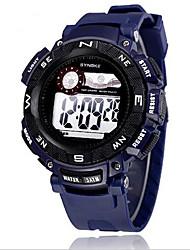SYNOKE Men's Sport Watch Digital Watch Wrist watch Digital LCD Calendar Chronograph Water Resistant / Water Proof Alarm Luminous Rubber