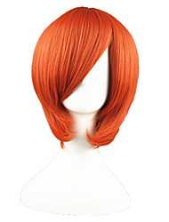 Parrucche Cosplay One Piece Nami Arancione Corto Anime Parrucche Cosplay 35 CM Tessuno resistente a calore Uomo / Donna