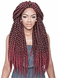 cheap -Havana Crochet Twist Braids Hair Extensions Hair Braids Dark Brown / Medium Brown / Strawberry Blonde / Light Auburn / grey / blue / purple / Red / #1