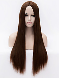 cheap -Synthetic Wig Straight / Yaki Synthetic Hair Wig Capless