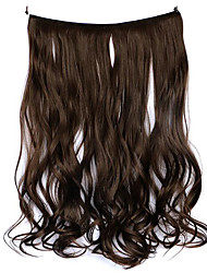 Wig Brown 45CM Synthetic High Temperature Wire Curly Hair Piece Color 4A