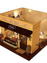 Недорогие -поделки дом мелодия любви кафе модель дома дома виллы собраны поделки ручной горячий хорошие подарки