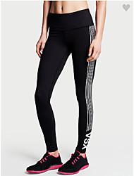preiswerte -Damen Laufhosen Atmungsaktiv Weich Videokompression Sanft Leggins Unten Übung & Fitness Laufen Schwarz S M L XL