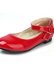 baratos -Mulheres / Unisexo Sapatos Couro Envernizado Primavera / Verão Conforto / MaryJane Sem Salto Presilha Vermelho / Rosa claro / Coral
