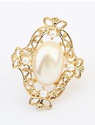 mode imitation perle candy ring élégant style féminin classique