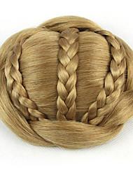 Недорогие -курчавые курчавые золота европы невесты человеческих волос монолитным парики шиньоны SP-189 1011