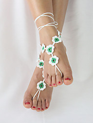 Women's Anklet/Bracelet Fabric Unique Design Fashion Adjustable Adorable Simple Style Jewelry Yellow Red Green Women's JewelryWedding