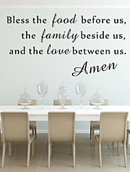 AYA™ DIY Wall Stickers Wall Decals, Bless the Food Amen Bible Verse PVC Wall Stickers