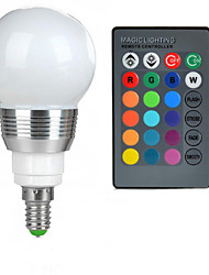 cheap -100-200 lm E14 LED Globe Bulbs A50 1 leds High Power LED Remote-Controlled RGB AC 85-265V