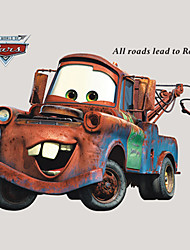 Movie Cars 2 Vintage Cartoon Mater Wall Stickers PVC Removable Wall Decals
