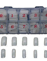 500 PCS  White Natural Full A False Sticker Decoration For Finger Acrylic Tips  Nail Art Tips