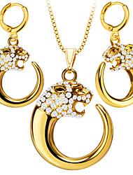 abordables -Mujer Conjunto de joyas - Brillante, Chapado en Oro Vintage, Moda Incluir Collar / pendientes Dorado / Blanco Para Boda / Fiesta / Diario / Pendientes / Collare
