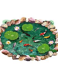 baratos -Animais Vida Imóvel Moda Floral Botânico Lazer 3D Adesivos de Parede Autocolantes 3D para Parede Autocolantes de Parede Decorativos, PVC