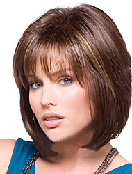 Middle Multi-color Straight Hair European Synthetic Wigs