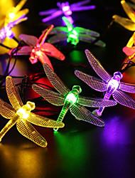 preiswerte -5m Leuchtgirlanden 20 LEDs Warmes Weiß Weiß Rosa Lila Grün Blau Rot Wiederaufladbar Wasserfest 100-240V
