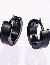 cheap -1 Pair Men's  Gold/Silver Stainless Steel Hoop Stud Earrings Fine Jewelry