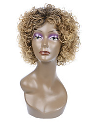 Natural Short Multi-color Popular Curly Synthetic Wigs For Woman