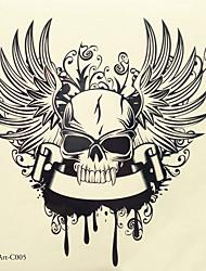 economico -1pc halloween pasta tatuaggio tatuaggio di colore adesivi una versione più grande impermeabile